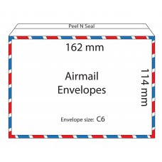 Airmail Envelopes 162x114mm / 50pcs