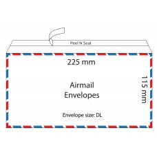 Airmail Envelopes 225x115mm / 50pcs