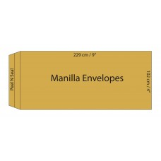 "Manilla Envelopes 102x229mm (4"" x 9"") / 50pcs"