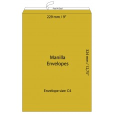 "Manilla Envelopes 229 x 324mm (9"" x 12.75"") / 50pcs"