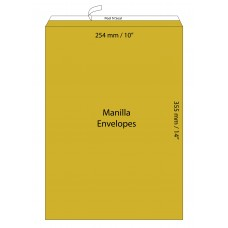 "Manilla Envelopes 254x355mm (10"" x 14"")  / 50pcs"