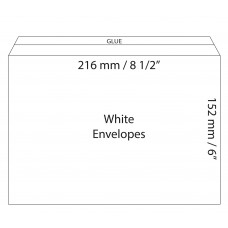"White Envelopes 216x152mm (8.5"" x 6"") / 50pcs"