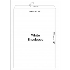 "White Envelopes 254x355mm (10"" x 15"") / 50pcs"