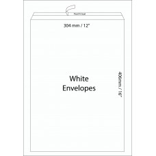 "White Envelopes 304x406mm (12"" x 16"") / 50pcs"