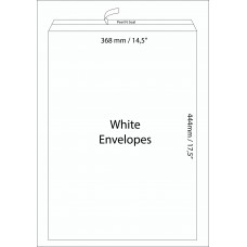 "White Envelopes 368X444 mm (14.5"" X 17.5"") / 50pcs"