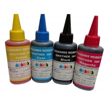 Brother Refill Ink Set of 4 / BLACK, CYAN, MAGENTA, YELLOW