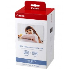 Canon KP-108IN Multicolor Ink Cartridges & Photo Paper / 3115B001