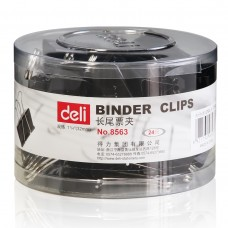 Deli Binder Clips 32mm (black)