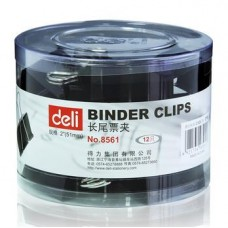 Deli Binder Clips 51mm (black)
