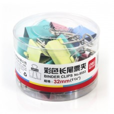 Deli Binder Clips 32mm (colored)