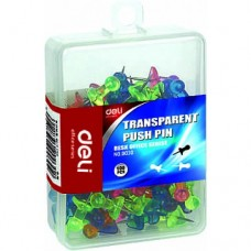 Deli Transparent Push Pins 100pcs