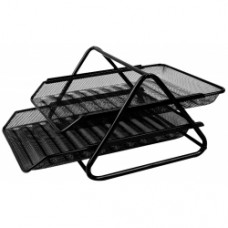 Metal Mesh Document Tray 2 Tier