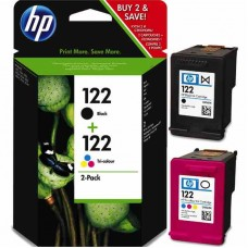 HP 122 2-pack Black/Tri-color Original Ink Cartridges / CR340HE