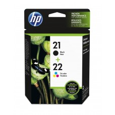 HP 21 Black/22 Tri-color 2-pack Original Ink Cartridges / SD367AE
