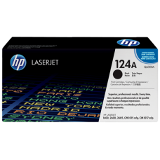 HP 124A Black LaserJet Toner Cartridge / Q6000A