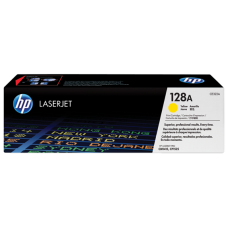 HP 128A Yellow LaserJet Toner Cartridge /  CE322A