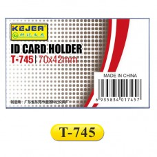 Kejea ID Card Holder With Clip / 70 x 42mm