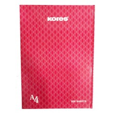Kores Notebook With Hard Cover / A4 (500 Sheets)