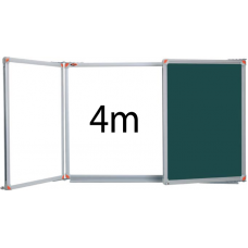 PandaPano - Wall Mounted Laminated Whiteboard 400cm (window style)