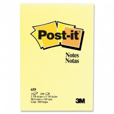 "Post-it Notes 659 3 7/8"" x 5 7/8"" Canary Yellow"