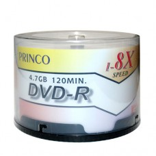 Princo Inkjet Printable DVD-R Discs 4.7GB / 50PCS