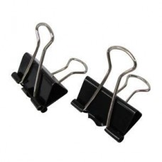 Binder Clips 25mm (Black) / 12pcs