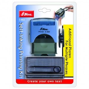 Shiny Self-inking Printing Kit S-883