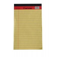 "SinarLine Legal Pad Yellow 5"" x 8"""