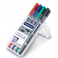 Staedtler Lumocolor Double Ended Duo Permanent Marker  / 4pcs