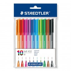 Staedtler Triangular Ballpoint Pen 432 M / 10PCS